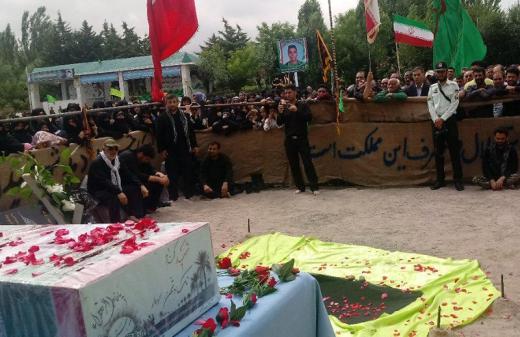 تشییع پیکر مطهر شهید گمنام در شهرستان مشگین شهر+ تصاویر
